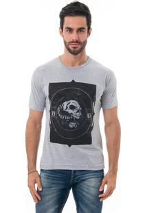 Camiseta Manga Curta Crossfire Snake Cinza Mescla