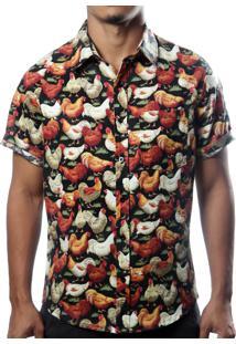 Camisa Camaleão Urbano Galo Preta
