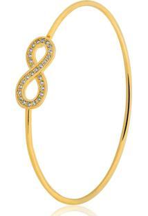 Pulseira Toque De Joia Bracelete Infinito Dourado