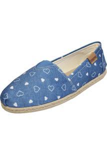 Alpargata Opposite Jeans Paixão Azul