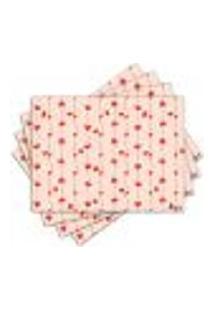 Jogo Americano - Corações Com 4 Peças - 087Jo
