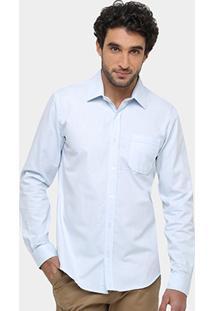 Camisa Social Sergio K Regular Fit Bolso Masculina - Masculino