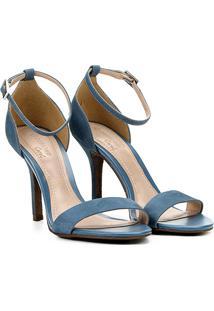 d7b538718 R$ 134,99. Zattini Sandália Jeans Moderna Skinny Com Salto Dumond Azul -  Feminina ...