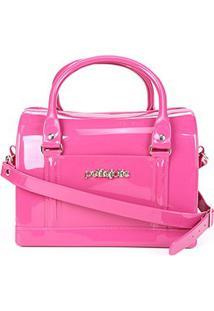Bolsa Baú Petite Jolie Bloom Feminina - Feminino-Pink