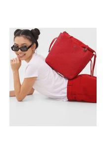 Bolsa Desigual Logo Vermelha