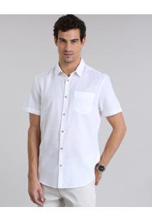 Camisa Comfort Com Bolso Off White