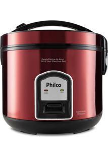 Panela Elétrica De Arroz Philco Ph10 Visor Glass Inox Red 220V