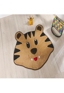 Tapete Formato Feltro Antiderrapante Tigre Caramelo - Multicolorido - Dafiti
