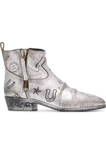 Golden Goose Texas Journey Ankle Boots - Prateado