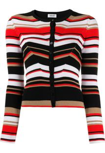 Liu Jo Striped Knit Cardigan - Preto