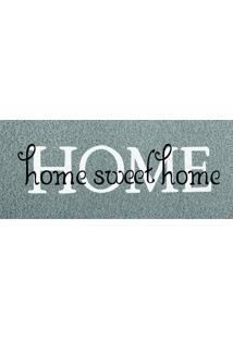 Capacho Vinil Long Home Sweet Home 30Cm X 70Cm Único