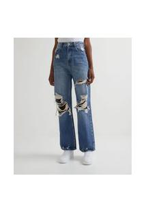 Calça Anos 90 Jeans Destroyed