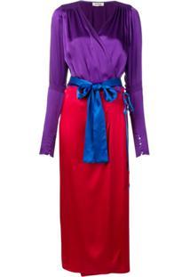 The Attico Vestido Envelope Color Block - Roxo