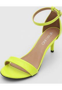 Sandália Via Uno Neon Amarelo