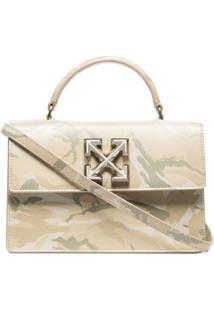 Off-White Bolsa Jitney 1.4 X Browns 50 - Neutro