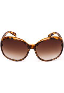 Óculos De Sol Ray Flector 68 Caramelo-Marrom - Kanui