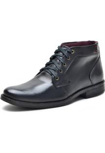 Bota Casual Over Boots Dallas Couro Soft Preto