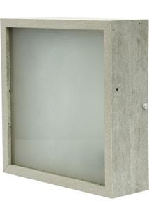 Plafon Skylux Quadrado Mdf Amadeirado Rústico 33X33 Cinza Concreto