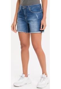 Bermuda Jeans Five Pockets - Azul Médio - 34