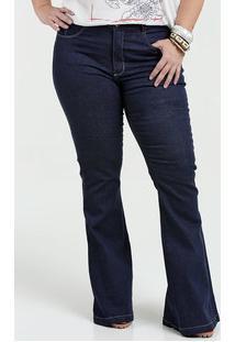 db1dcf5e1a ... Calça Feminina Jeans Flare Stretch Plus Size Razon