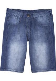 Bermuda Masculina Hering Tradicional Em Jeans Com Desgaste