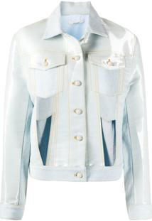 Zilver Jaqueta Jeans Com Vazado - Azul