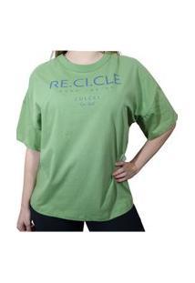Camiseta Colcci Recicle Verde