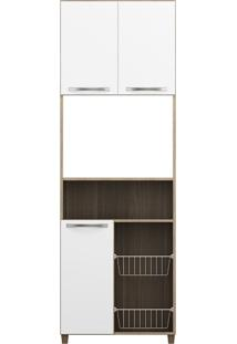 Gabinete Top Line Com Fruteira 3 Pt Chocolate E Branco New