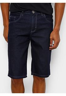 Bermuda Jeans Preston Elastano Amassada Masculina - Masculino