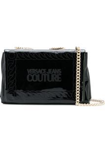 Versace Jeans Couture Bolsa Transversal 'Macro Tag' - Preto