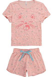Pijama Salmão Gatinhos