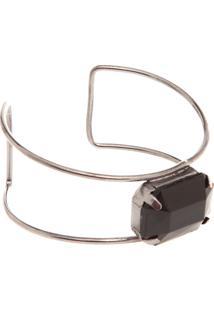 Bracelete Fiveblu Pedra Cinza
