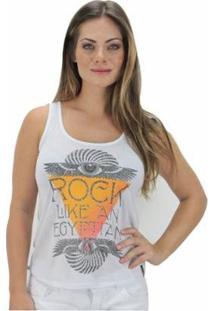 Regata Volcom Rock Like Feminina - Feminino-Branco