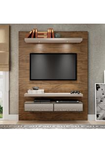 Painel Para Tv 140 Nobre/Fendi Com Espelho Tb106E - Dalla Costa