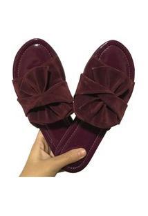 Sandália Tamanco Flatform Black Feet Marsala