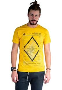 Camiseta Mister Fish Estampado Premium Quality Masculina - Masculino-Mostarda