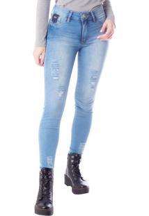 Calça Jeans Feminina Tm Denim Cigarrete Azul Claro - 38