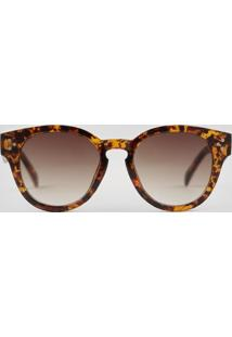 Óculos De Sol Redondo Feminino Oneself Tartaruga - Único