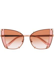 Dolce & Gabbana Eyewear Faceted Butterfly Sunglasses - Rosa