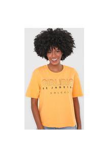 Camiseta Colcci Girl From Rio De Janeiro Amarela