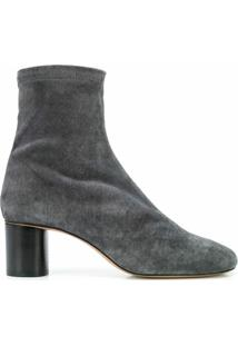 Isabel Marant Ankle Boot Dafka Com Stretch - Cinza