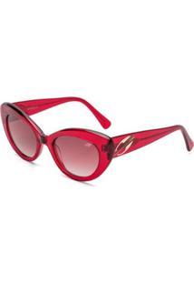 Óculos De Sol Mormaii Maris.A Translucido - Feminino-Vermelho
