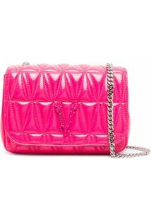 Versace Bolsa Tiracolo Matelassê - Rosa