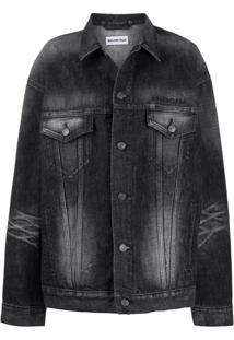 Balenciaga Jaqueta Com Modelagem Ampla - Preto