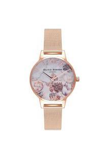 Relógio Olivia Burton Feminino Aço Rosé - Ob16Cs06