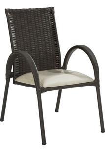 Cadeira Giovana Marrom Escuro
