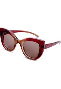 Óculos De Sol Gatinho Em Acetato Vinho By Vivara - Tricae
