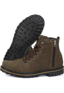 9c22caee84 ... Bota Cr Shoes Coturno Casual Sapatofran Resistente Com Atacador  Elástico E Zíper Lateral Marrom