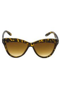Óculos De Sol Ray Flector 287Co Onça Marrom
