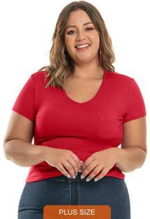 Blusa Plus Vermelho